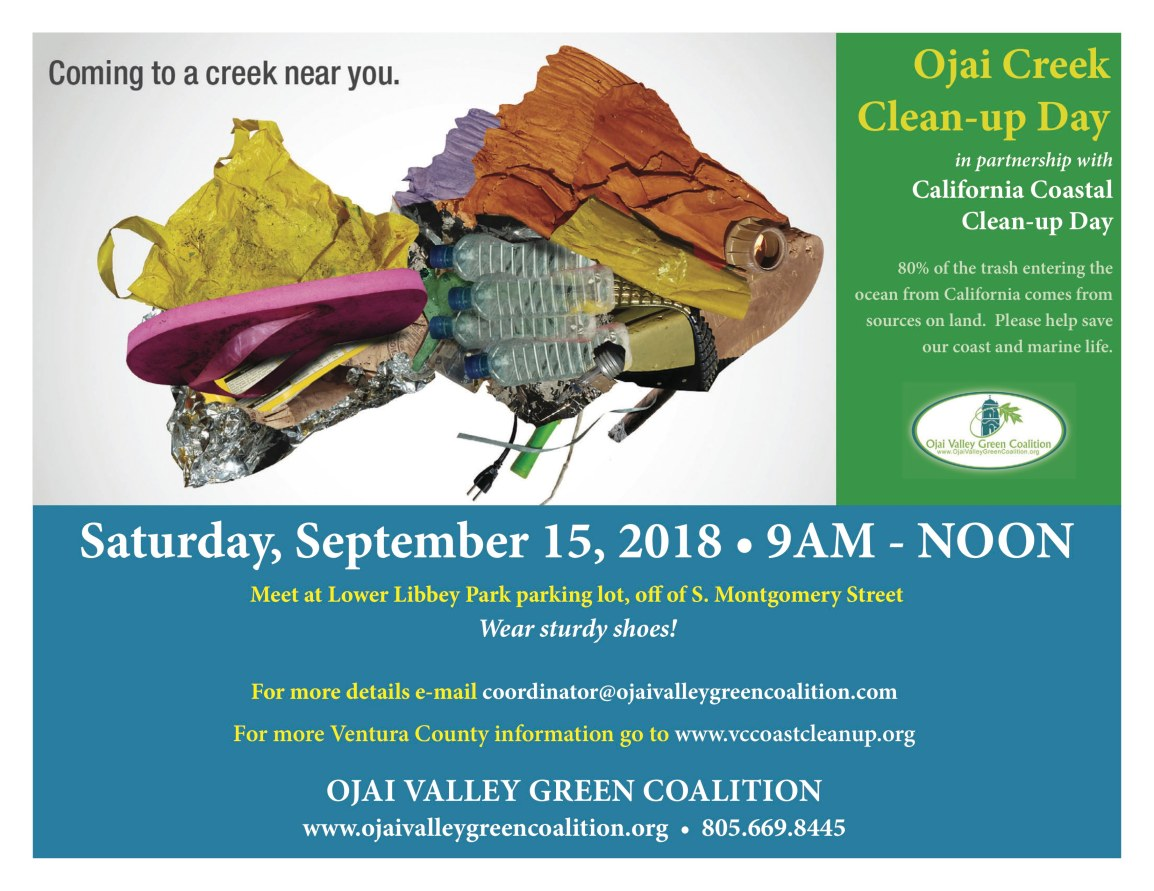 2018 CREEK CLEAN-UP DAY, SAT, SEPT 15